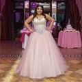 Sweetheart moldeado rosado Tulle de la blusa de princesa Quinceanera Dresses vestidos de 15 años vestido de festa