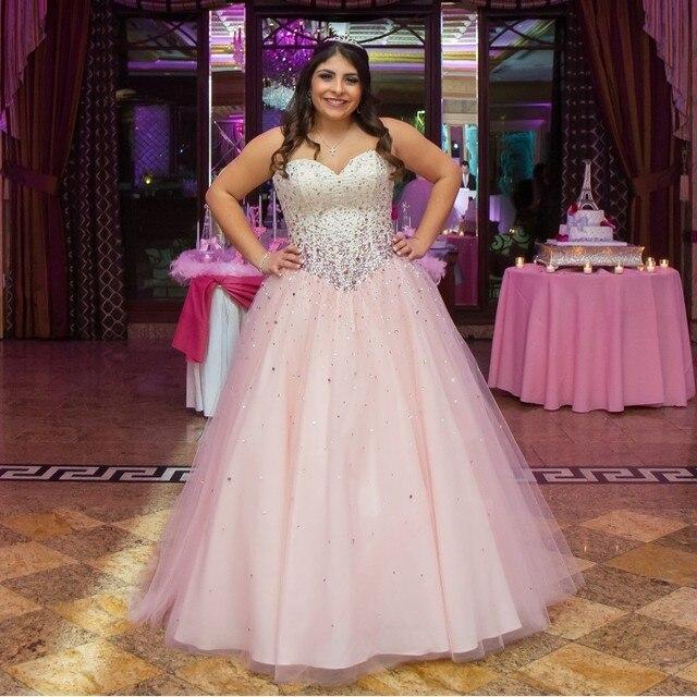 c00c4095198 Sweetheart moldeado rosado Tulle de la blusa de princesa Quinceanera Dresses  vestidos de 15 años vestido