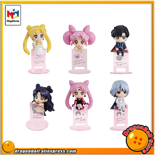 Japanese Anime Pretty Guardian Sailor Moon Original MegaHouse Ochatomo Series Action Figure - Night & Day Set of 5 PCS