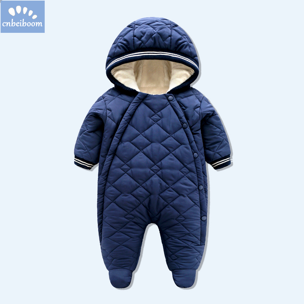 Baby Rompers Winter Thick Climbing Clothes Newborn Boys Girls Warm Jumpsuit 2018 high quality ski suit Outwear for infant 0-18 M baby rompers winter thick climbing clothes newborn boys girls warm jumpsuit 2018 high quality ski suit outwear for infant 0 18 m