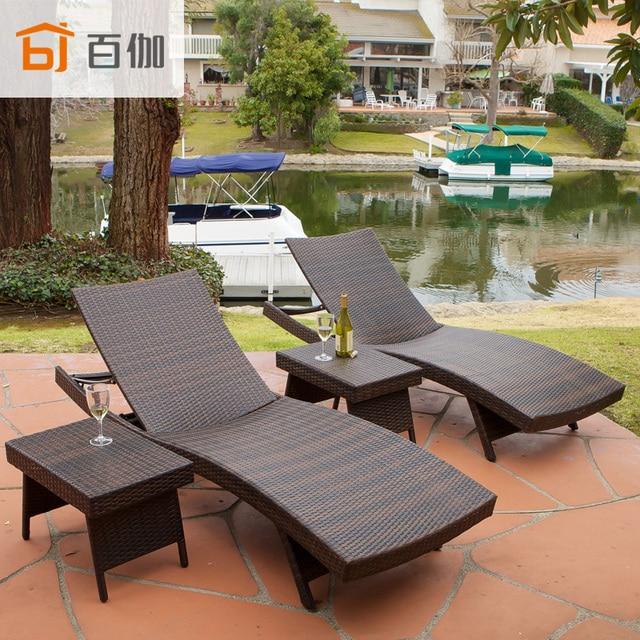 Informal al aire libre playa tumbado cama piscina balcón jardín ...