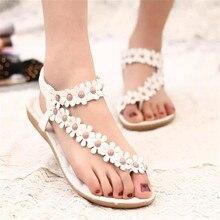 Summer Shoes Sandals Women Soft Leather Shoes Woman Breathable Ladies Shoes Bohemia Women's Shoes Flower Women Sandals Flats 426