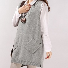 2016 new spring autumn font b maternity b font clothing materntiy vest knitted sweater vest pregnant