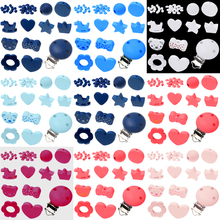 Various Styles 35pcs/Set Wooden Jewelry Spacer Beading Beads