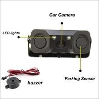 New Car Video Parking Camera Sensor Rear View Camera 2 Sensors Indicator Bi Bi Alarm Auto