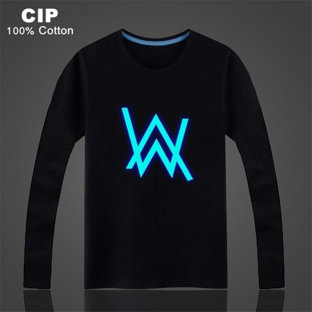 20cc378e Alan Walker T Shirt Childrens Clothing for Girls Luminous T Shirts Glow in  The Dark Rock Hip-hop Music DJ Toddler Boy Tee Shirt