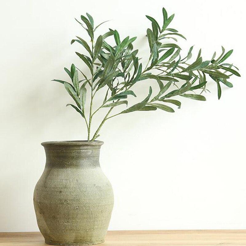 20 шт. 103 см европейские листья оливы для отеля и свадьбы искусственные растения оливковое дерево ветви лист украшения дома аксессуары - 2