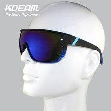 Kdeam goggle eyewear 2017 homens exercício tamanho grande quadro marca  Mulheres do desenhador Óculos De Sol Do Metal Dobradiças . 458414605c