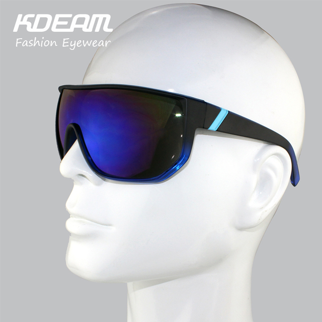 KDEAM eyewear 2017 Men Sport Goggle Big size Frame Brand Designer Women Sunglasses Metal Hinges Oculos De Sol UV400 With Case