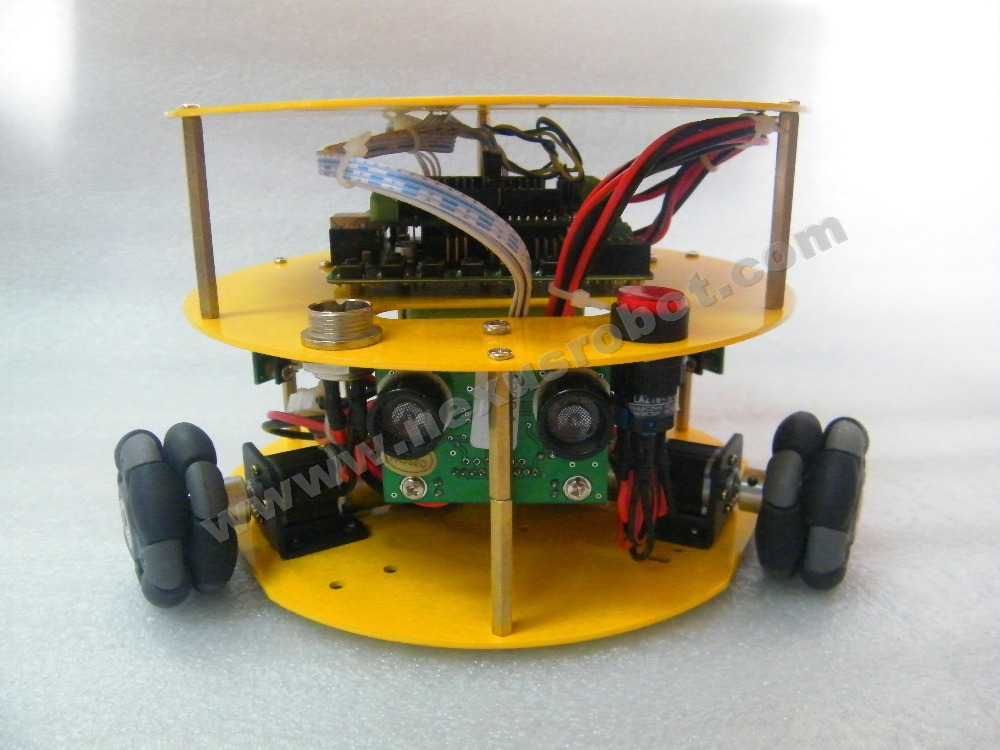 Kit per robot Arduino Mobile WD da 3WD 48mm Omni Wheels - Materiale scolastico e didattico