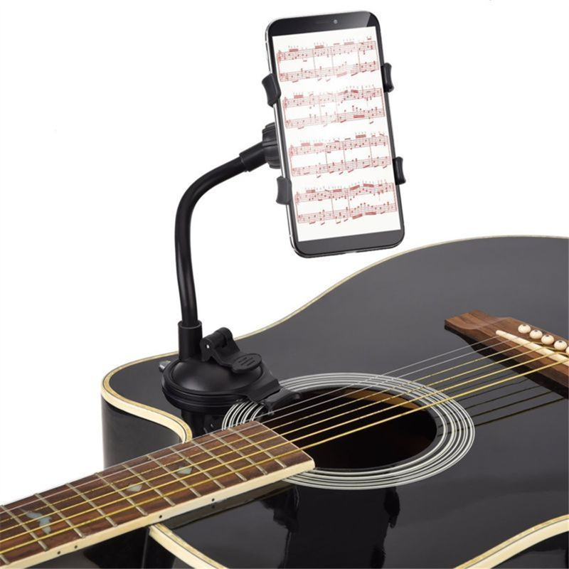 Phone Holder Stand For IPhone X Xiaomi Guitar Street Singing Lyrics Song Car Holder Sucker Suction Cups Musicians Guitar Mobile