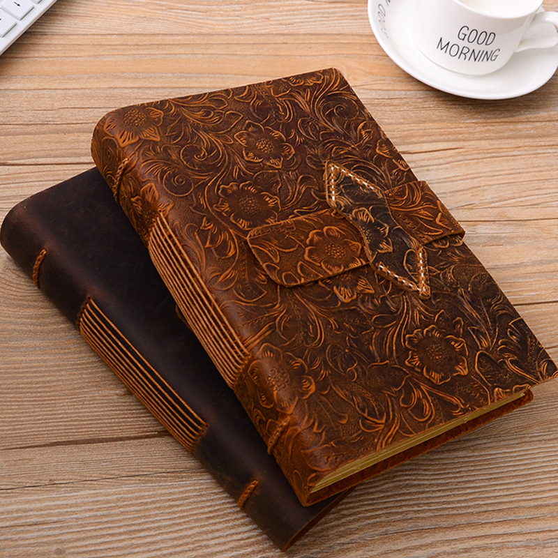2019 New Vintage Leather Notebook Weekly Daily Planner Notepad For Kids Gift School Office Supplies Student Stationery