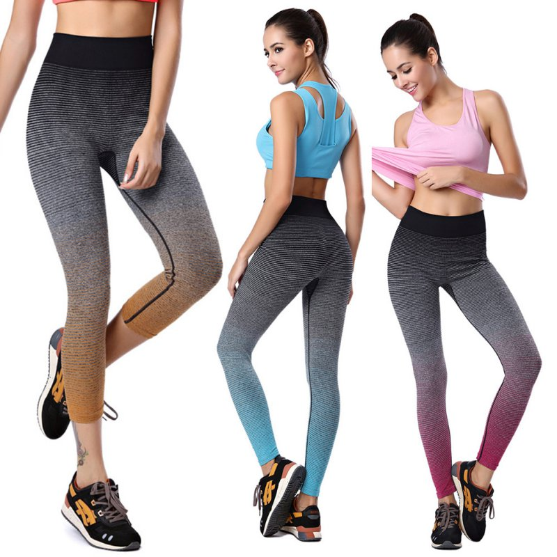 High Waist Women Athletic Trousers Running Sports Slim Fit Cropped Pants New Arrival