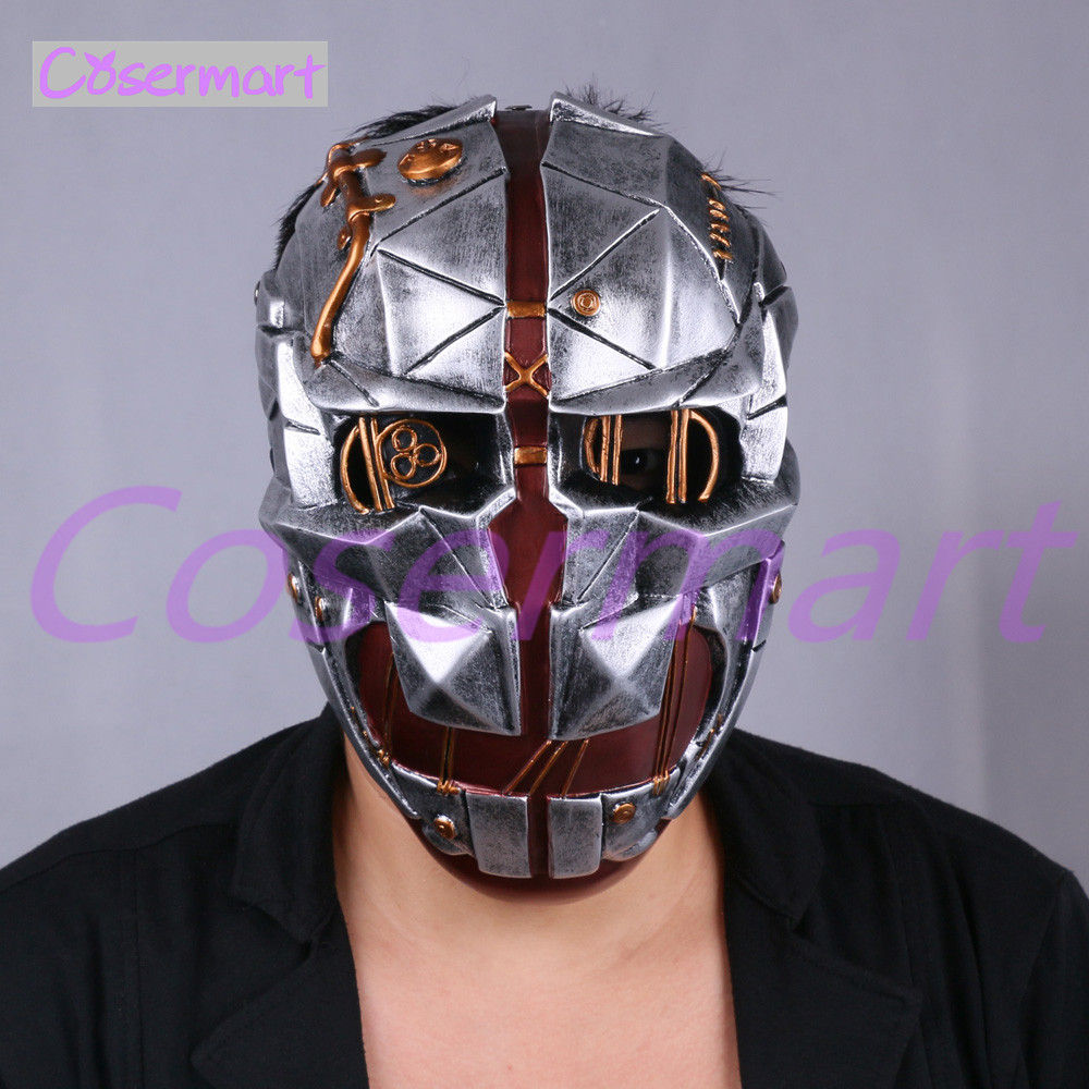 Cos Hot Game Dishonored Helmet Wearable Masks Cosplay Corvo Attano Mask Hard Resin Halloween Party (4)