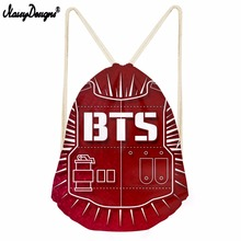 Kpop BTS Logo Door ARMY Drawstring Bags Bangtan Boys bts Galaxy Printed Women Cosmetic Container Casual Beach Bag Shoes Pouch