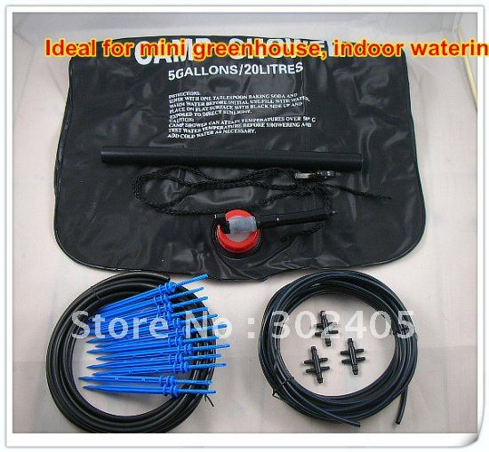 IIdeal For Mini Greenhouse. Plant Watering System With Bag.Micro  Irrigation.Drip Irrigation Kit