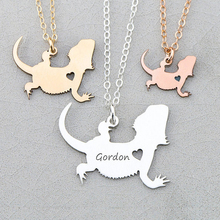Personalized Bearded Dragon Charm Lizard Necklace Jewelry 3 Colors Available Accept Drop Shipping YP6047