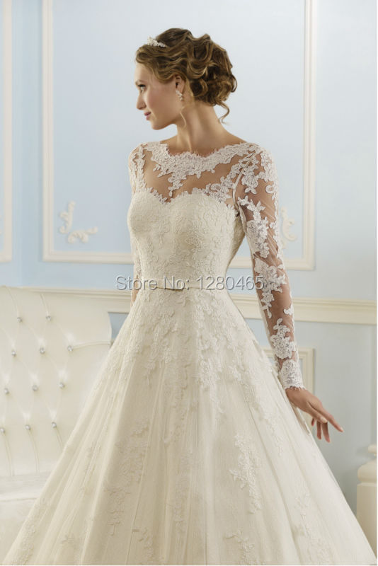 Célèbre Abiti Vintage Pizzo Abito Da Sposa Vestidos de Noiva Abito Da  HF43