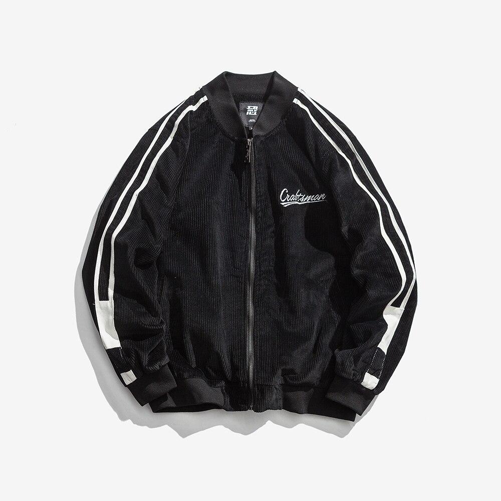 Haute qualité luxe imprimé velours côtelé manteaux amérique Baseball uniforme pour hommes printemps automne vêtements Bomber veste Streetwear