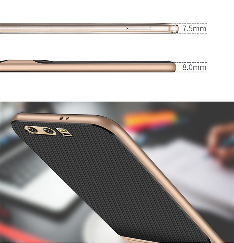 Original for Huawei Honor 9 Case luxury rhomboids texture Non slip Soft TPU + PC Holder Case For Huawei Honor 9 Cover Protector