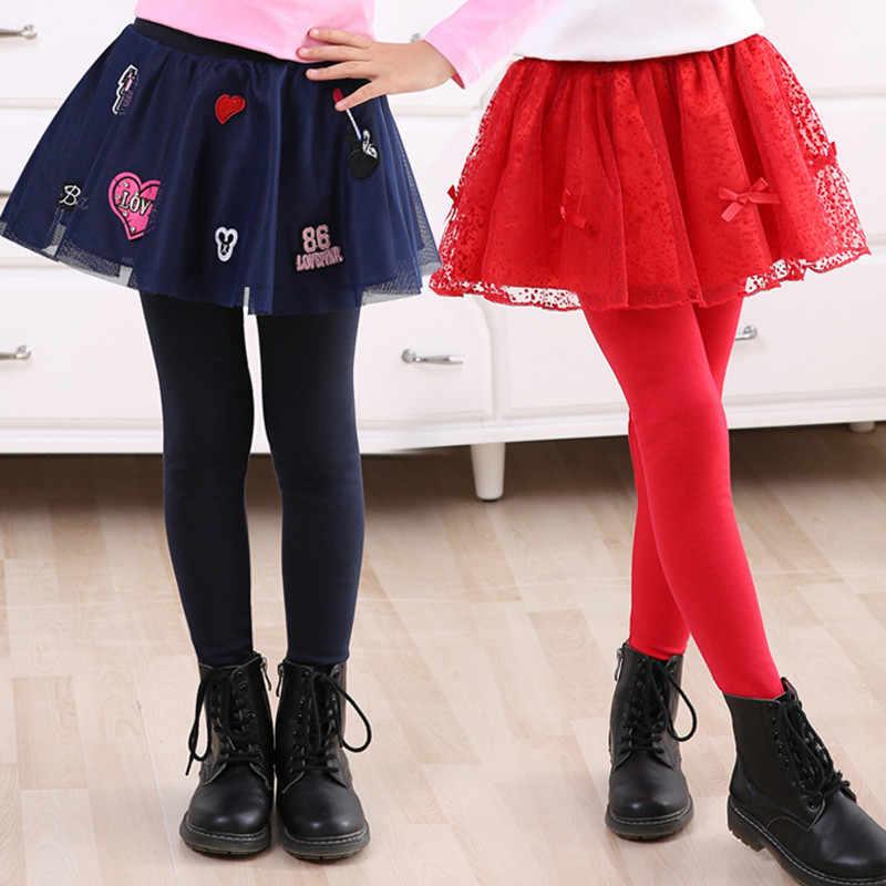 1a4d2602209 Infant Toddler Cozy Pantskirt Children Girls Lace Culotte Kids Child  Legging Trousers Skirt For Height 105