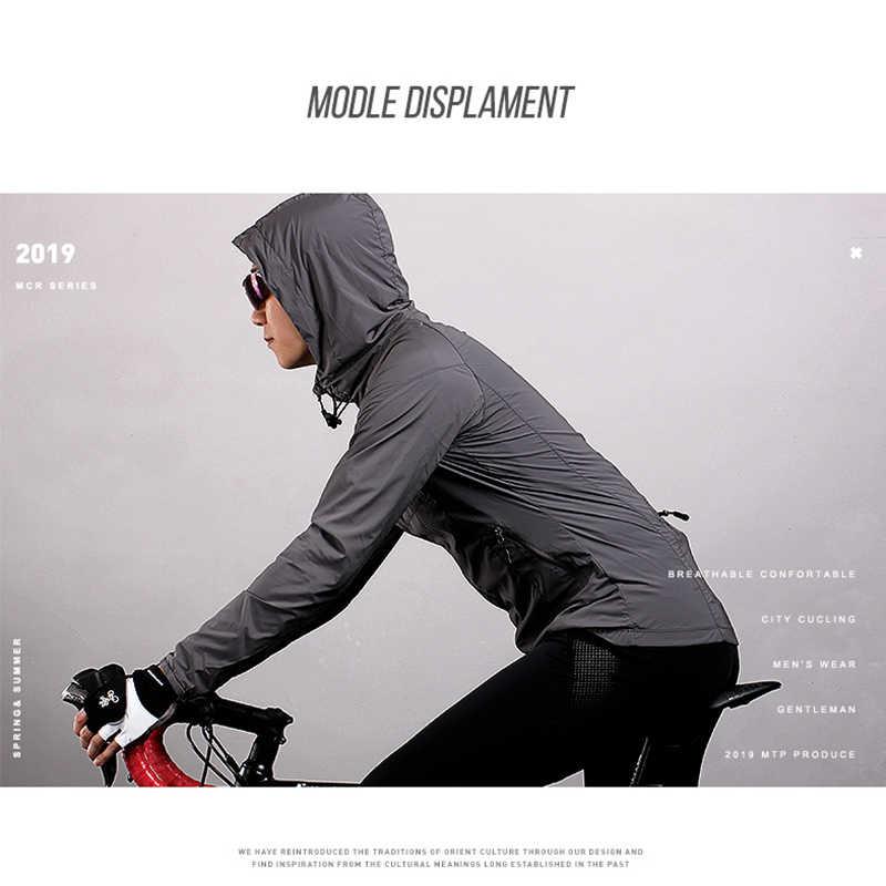Ultralichte Hooded Dunne Fiets Jas Unisex Bike Winddicht Jas Road MTB Aero Fietsen Wind Coat Mannen Kleding Snel dry Jassen