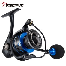 Piscifun Spartan Spinning Reel 12+1 Shielded Bearings 6.2:1 Gear Ratio Full Body Saltwater Up to 20KG Max Drag Fishing Reel