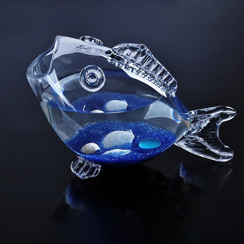 Verre Transparent en forme de poisson Aquarium Aquarium réservoir de poisson verre maison salon bureau artisanat ornements