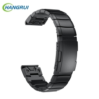 Hangrui For Garmin Fenix 5 Straps Replacement Stainless Steel Wrist Band Bracelet Metal Watch Straps Forerunner