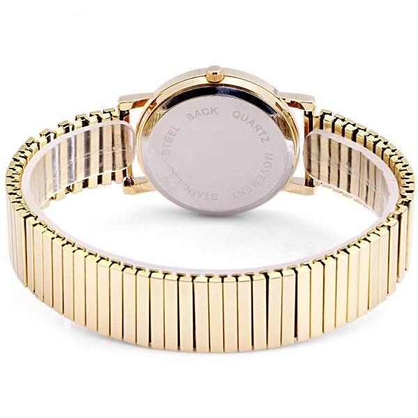 Men/Women Fashion casual Quartz Watch Stainless Steel Contains Elastic Strap Design fashion wristwatch