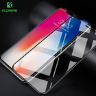 FLOVEME 9H Glass for iPhone X Screen Protector 3D Arc Curved 0.25mm Full Cover for iPhone X 10 Tempered Glass Protective Film