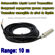 10 Meter Range Submersible Input Type Liquid Level Transmitter 11 m Cable Transducer For Diesel Other is ok