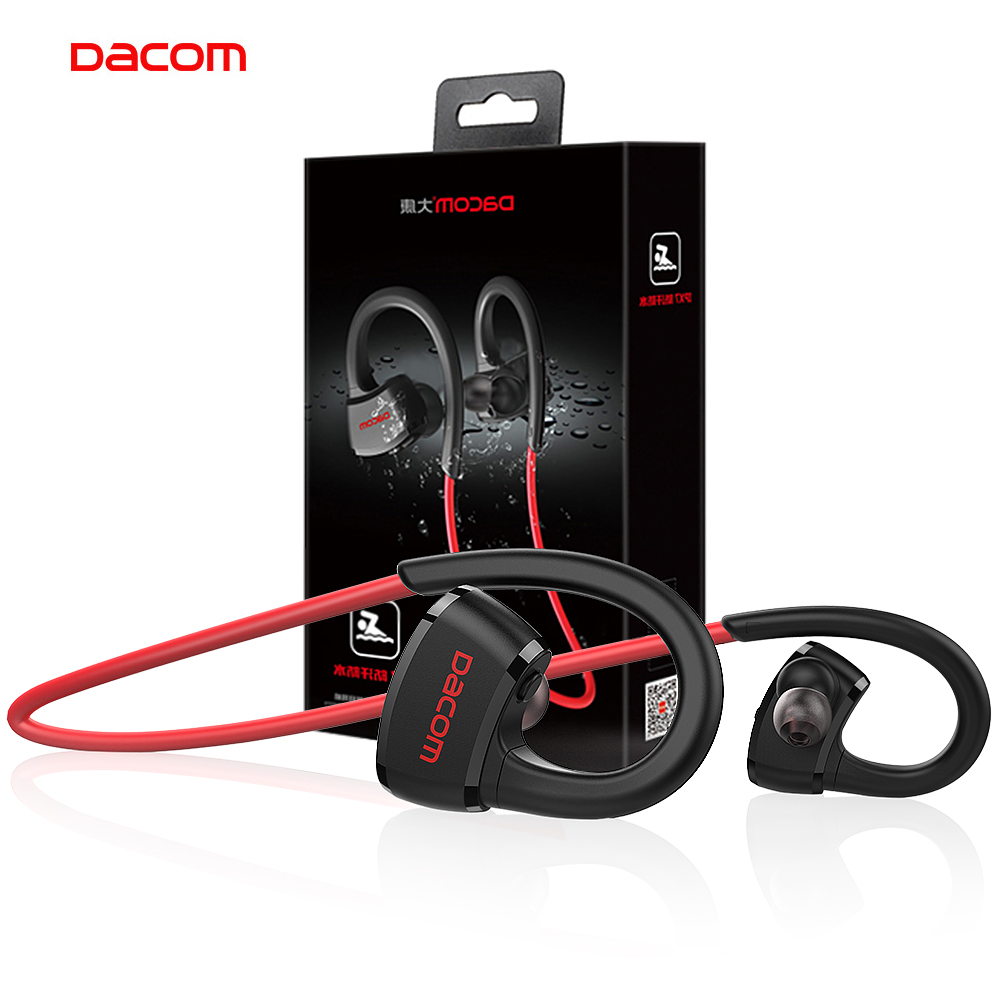 DACOM P10 Sukan Bluetooth Headphone Pemain MP3 IPX7 Running kalis air Tanpa Wayar Earphone Stereo Earbuds Stereo Headset dengan Mikrofon