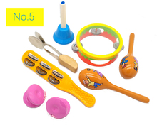 BIG SALE 6pc New musical instruments toy set wooden percussion for baby preschool kids music rhythm educational