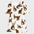 Impressão Do Gato de Bengal Tiger Impressão de alta Qualidade de Design Meninas Reta Estilo Meninas Vestido de Verão Crianças Vestidos Diárias Atacado