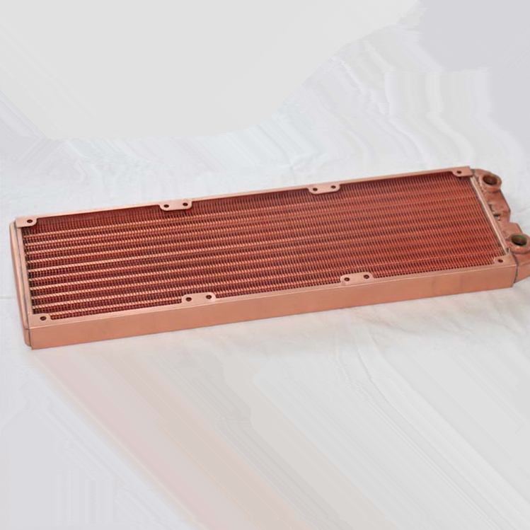 360mm computer water cooling copper discharge radiator fan Heat sink ultra-dense fin heat exchanger 75 29 3 15 2mm pure copper radiator copper cooling fins copper fin can be diy longer heat sink radiactor fin coliing fin