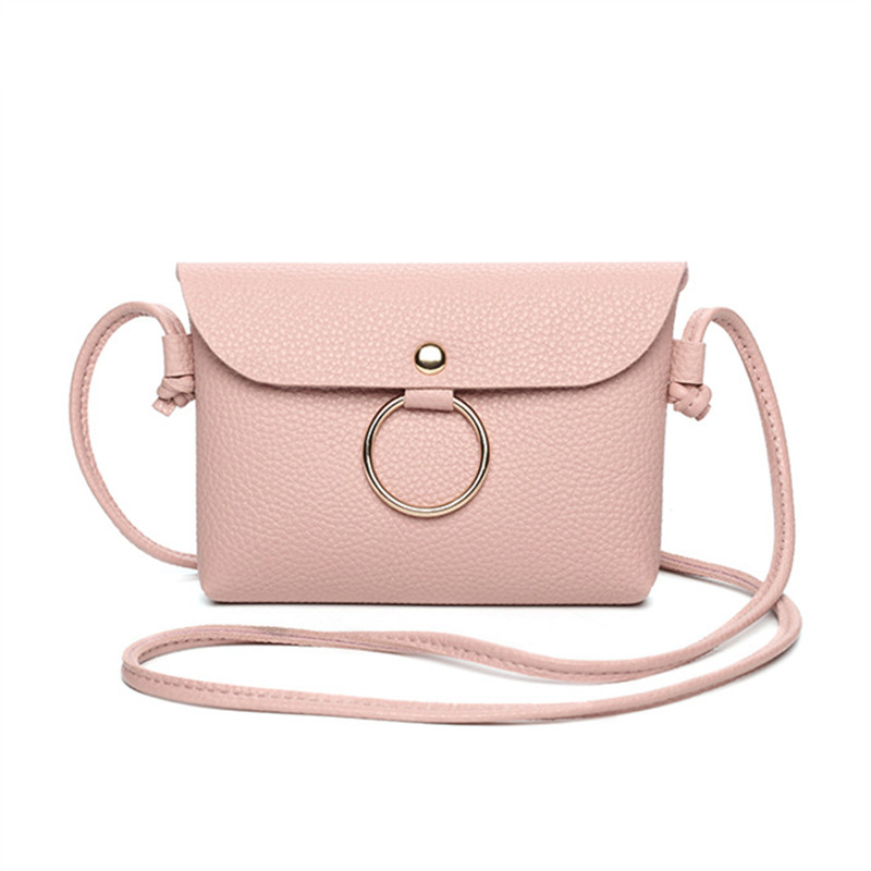 Women Leisure Handbags Crossbody Messenger Bag Pu Leather Small Sling Shoulder Bags Purses Phone Bag