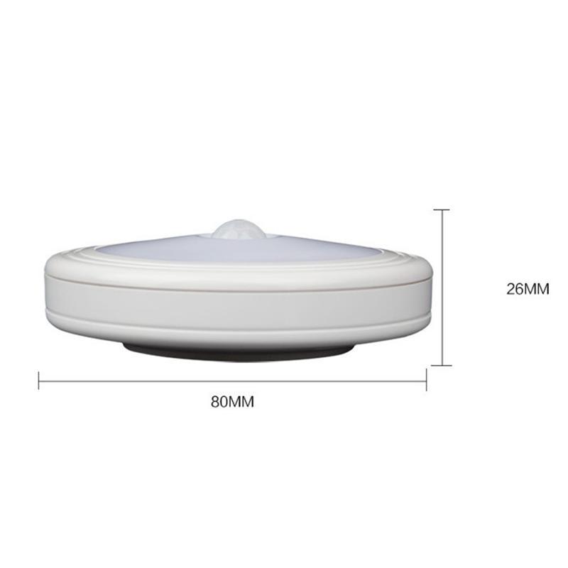 4pcs Motion Sensor LED Light Battery Powered LED Stick On Wall Light Nightlight Magnetic Night Light Pure White Light