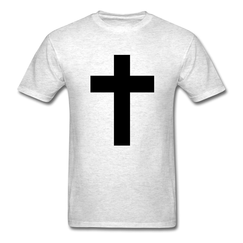 Black t shirt white cross - 2017 New Fashion Spreadshirt Men S White The Cross Cross Jesus T Shirt 100 Cotton Male O Neck T Shirt Short Tops Tee