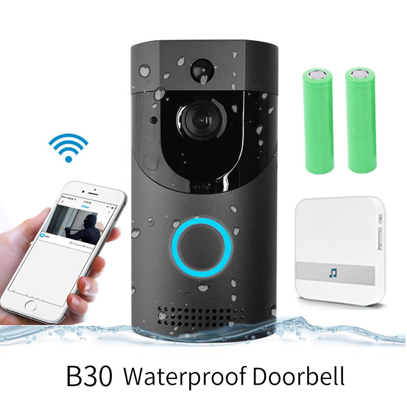 Anytek B30 WIFI Doorbell 720P Wireless Intercom IP65 Waterproof FIR Alarm IR Night Vision B30 Smart Video Door Chime IP Camera
