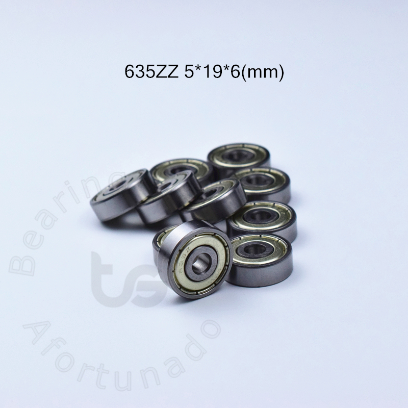 635 635ZZ 5*19*6(mm) 10pieces Bearing Free Shipping ABEC-5 Bearings Metal Sealed Miniature 635 635Z 635 ZZ Chrome Steel Bearings