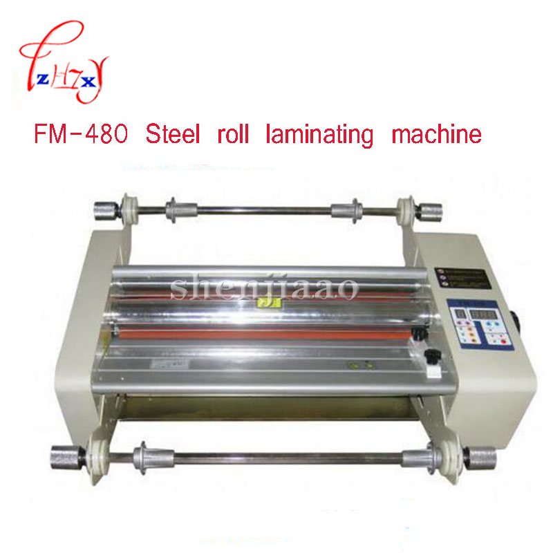 FM-480 paper laminating machine,students card,worker card,office file laminator,Steel roll laminating machine fm 380 paper laminating machine students card worker card office file laminator steel roll laminating machine