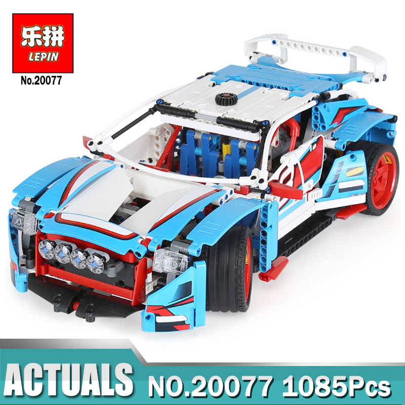 Lepin Technic 20077 compatible legoing Technic 42077 The Rally Car Set Building Blocks Bricks Educational Funny Children Toys technic 2 in 1 rally car lepin building blocks set bricks city classic model kids toys for children gift compatible legoe