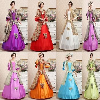Customized 2018 Autumn Royal multicolour Square Collar Seven sleeves European court Party dress Lace Ruffle Masquerade Ball Gown