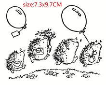 Vier hedgehog Transparent Klar Briefmarken pelz DIY Scrapbooking/Karte, Der/Kinder Weihnachten Spa Dekoration Lieferttampons