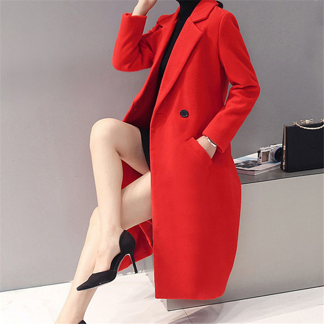 Fashion 2017  Long Trench Coat For Women Autumn Spring Trench Coats Outerwear slim Coat Mujer Trench ZQ111