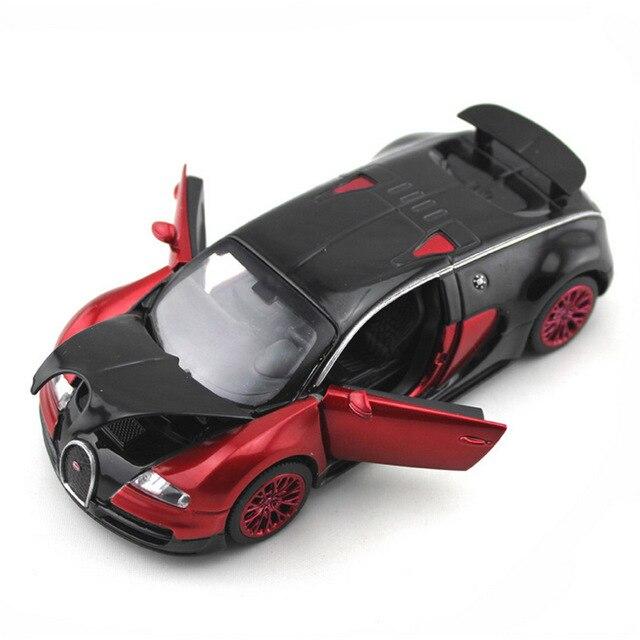 Масштабе 1:32 Bugatti Veyron кош jugetes Diecast Автомобилей Модели автомобилей эскалации Отступить Игрушечные Машинки oyuncak араба, Игрушки Для Детей подарки