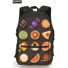 Дизайнер мальчиков Рюкзаки уникальный фруктовый стильный рюкзак для детей школьного возраста, повседневные школьников дети bookbag туристические рюкзаки