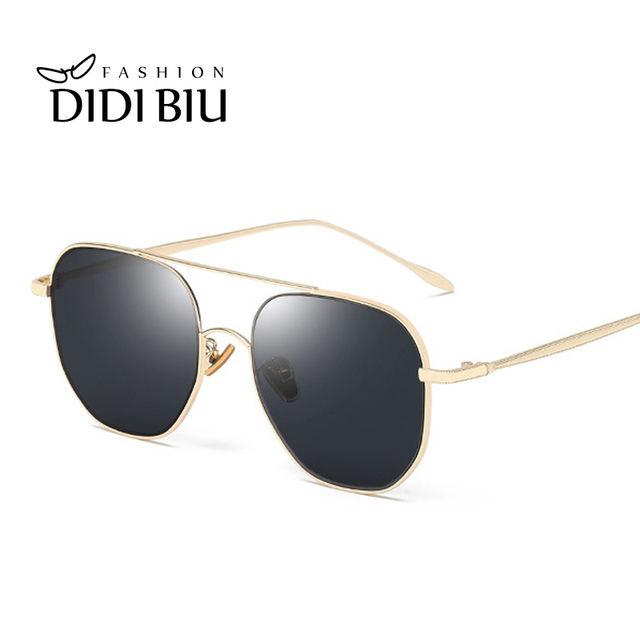 1f40fd72068 Lovers Polarized Sunglasses Premium Brand Blue Square Military Sun Glasses  Gold Frame Female Pink Mirror Men