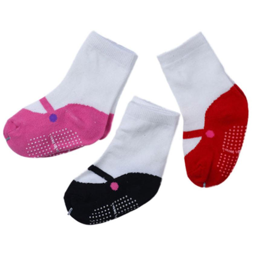 children socks anti slip 3 pair new born baby clothes boys girls rubber sole socks newborn winter wear cosas para bebes nice